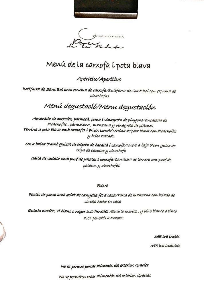 Barcelona menu